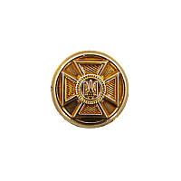 Ґудзик малий ЗСУ (емблема) золотий пластмасовий