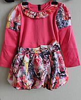 Детское платье малюк с подкладкой на юбке и трикотажным белым болеро  возраст от 2 до 5 лет