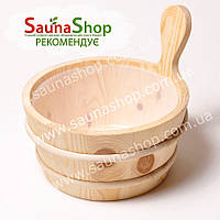 Шайка для сауны, бани Sawo 340-P, 4л.