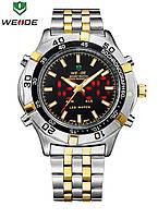 Мужские наручные часы Weide Led Casual с подсветкой