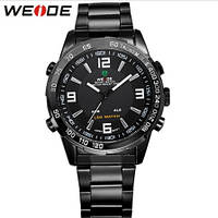 Мужские наручные часы Weide Standart Silver с подсветкой