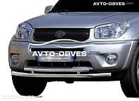 Двойная защита переднего бампера Toyota Rav4 2000-2006