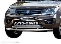 Двойная защита переднего бампера для Suzuki Grand Vitara 2011-2015