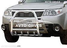 Защита переднего бампера Subaru Forester 2008-2012 (п.к. RR04)
