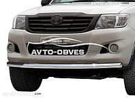 Защита переднего бампера Toyota Hilux 2012-2015 одинарный ус