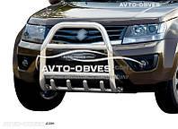 Защита переднего бампера Suzuki Grand Vitara 2011-2015 (п.к. RR04)