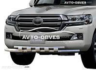 Защита переднего бампера для Toyota LC200 2016-… Экслюзив от ИМ Автообвес