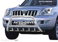 Защита переднего бампера для Toyota Prado 120
