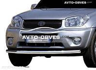 Защита переднего бампера для Toyota Rav4 2000-2006  одинарный ус (п.к. V001)