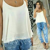 Очень лёгкая,свободная летняя блузка