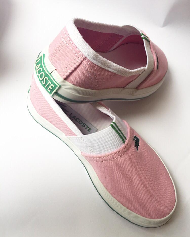 Детские слипоны кеды Lacoste розовые для девочки  продажа, цена в ... f4e8d1bfcd9