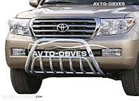 Штатный кенгурятник для Toyota Land Cruiser 200 двойной усиленный