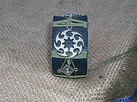 Кожаный браслет для мужчин КОЛОВРАТ, ручная работа