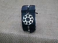 Кожаный браслет на руку СЮРИКЕН, ручная работа