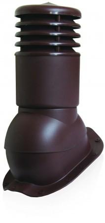 Вентиляционный выход утепленный с колпаком Kronoplast KBWO 150мм для металлочерепицы средняя волна до 30 мм. Красный - Оксамит Винница в Виннице
