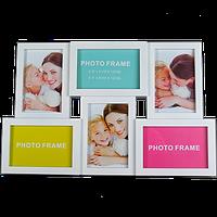 Мультирамка на 6 фото в двух цветах