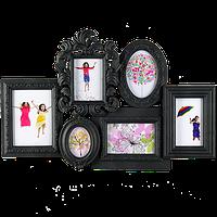 Резная мультирамка на 6 фото в двух цветах