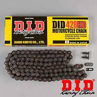 Мото цепь 428 DID 428HD 142 на малокубатурную Китайскую технику стальная безсальниковая
