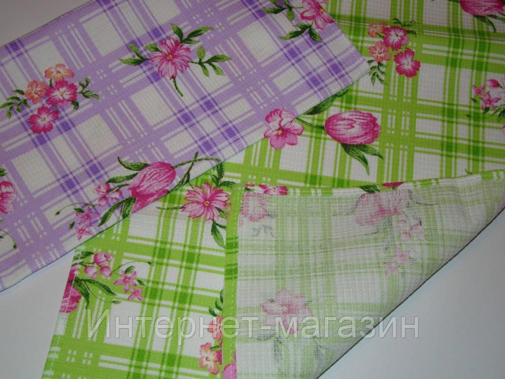Кухонное вафельное полотенце (36х76 см) код 0037