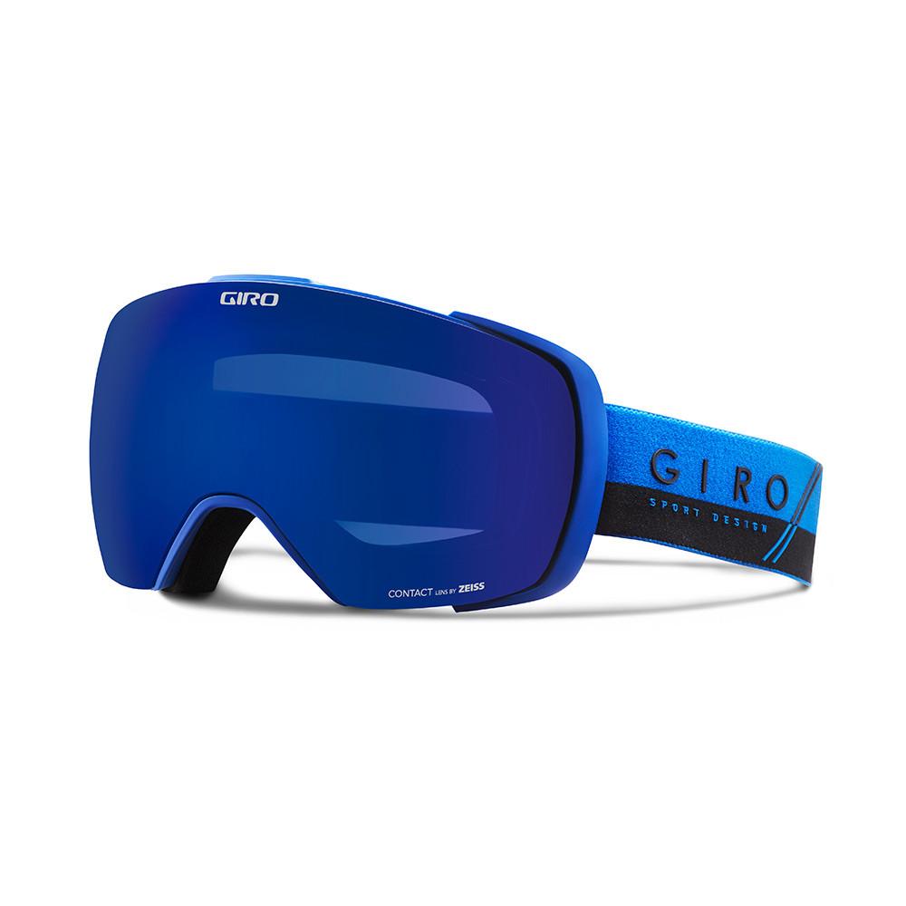 Горнолыжная маска Giro Contact синяя/чёрная Splash, Zeiss, Grey Cobalt 10% + Persimmon Boost 52% (GT)