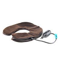 Ортопедический воротник лечебный воротник коричневый замш, фото 1