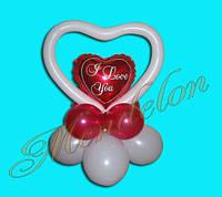 Сердце I love you композиция из шаров