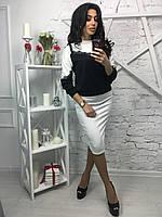 Новая коллекция! Женский костюм с кружевом