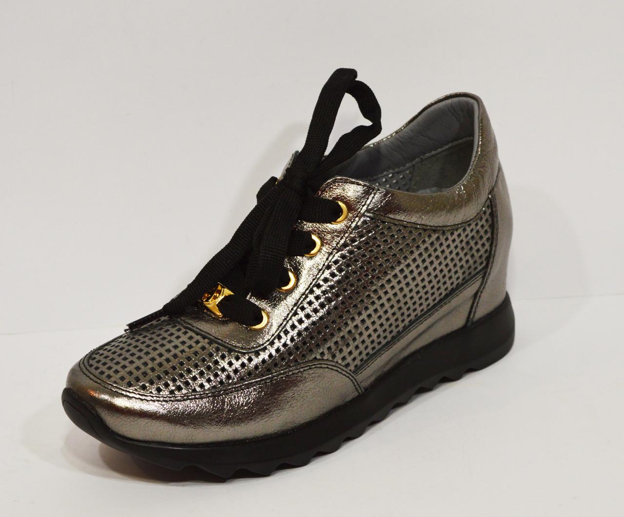 Серебряные женские кроссовки Alpino 160