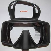 Маска для дайвинга и подводной охоты Exquis 6360 SB (чёрный силикон)