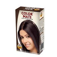 Краска-крем для волос Color Mate обогащена натуральными маслами DARK BROWN 130мл