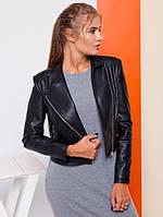 Женская кожаная куртка КОСУХА 3 цвета р. от 42-50