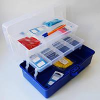 Органайзер для рукоделия 31*17,5*14,5 см мульти-уровневый синий