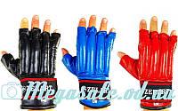 Перчатки боевые (шингарты) Zel 4225, кожа: 3 цвета, M/L/XL