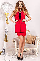 Деловой  женский  красный    костюм Ролинс  Jadone    42-50  размеры