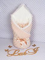 """Конверт-одеяло для новорожденного """"Вязка"""""""