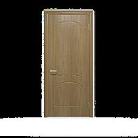 """Межкомнатные двери шпонированные дубом """"Ваш Стиль"""" модель Крона ПГ светлый орех. Шпон дубовый"""