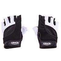 Перчатки для фитнеса Ronex NapForwayNeopren (р.L, черно-белые)