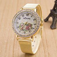Женские часы Женева с цветами