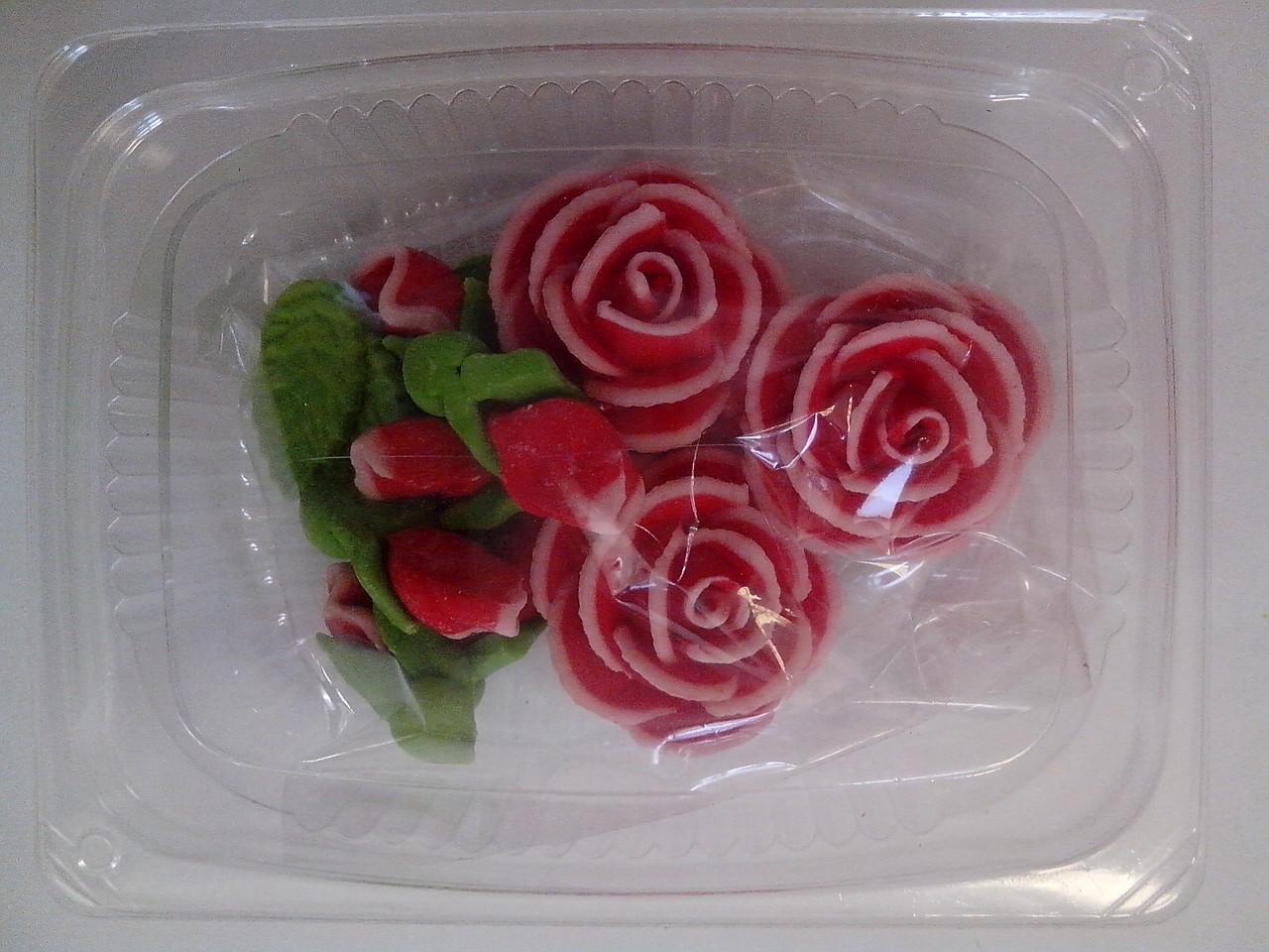 """Набор """"чайные розы""""  3 шт. в ассорт. Украина - 01154"""