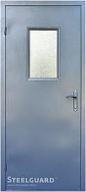 Дверь входная 161 Glass RAL 7016 Steelguard