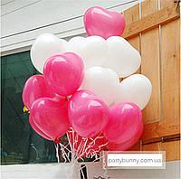 """Облако из шаров """"Большие Сердца"""""""