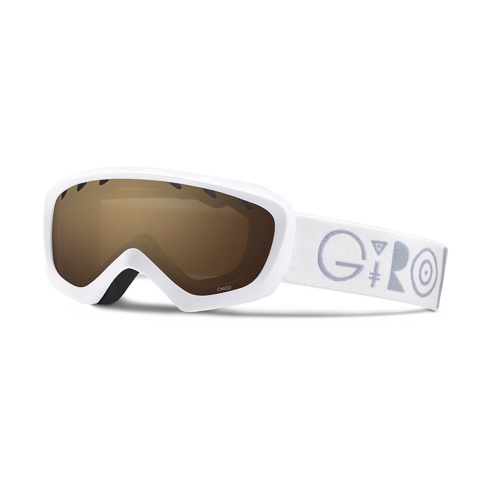 Горнолыжная маска Giro Chico белая Geo, Amber Rose 40% (GT)