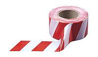 Лента сигнальная 72мм х 100м (красно-белая)