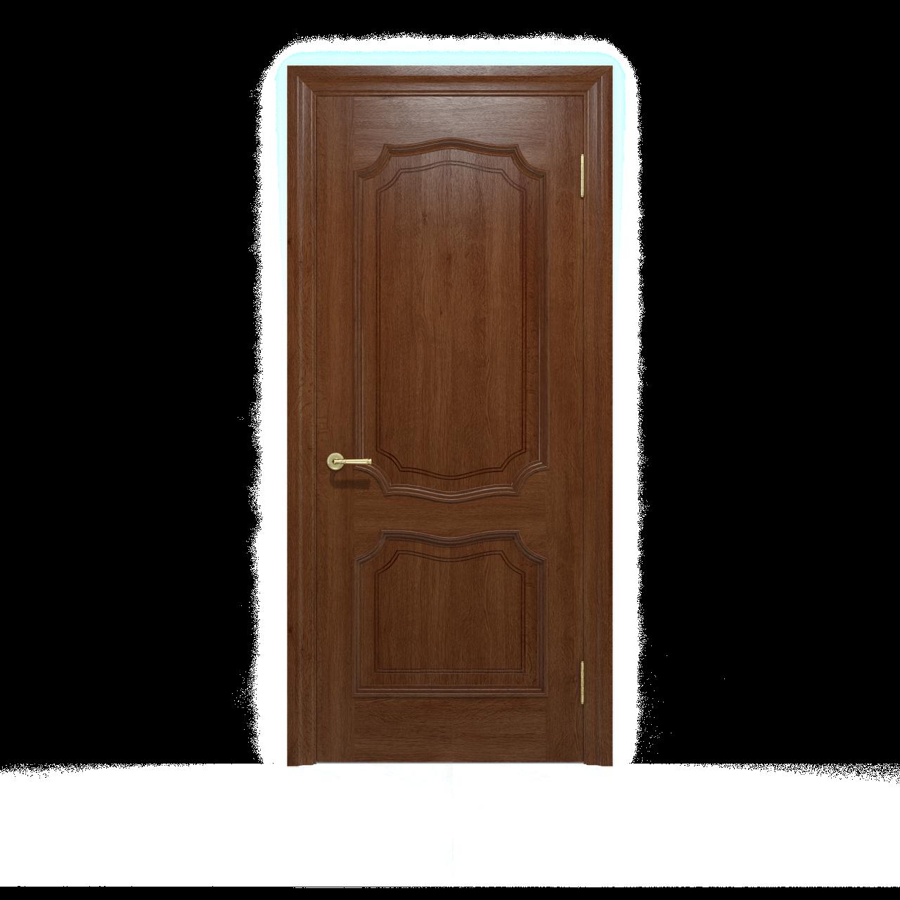 Межкомнатные двери Луидор Темный Орех  Шпон дубовый