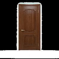 Межкомнатные двери шпонированные дубом, модель Луидор ПГ темный орех. Шпон дубовый