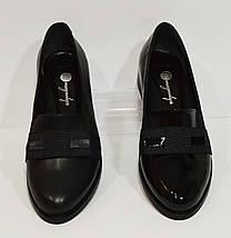 Женские черные кожаные туфли Magnolya 304, фото 3