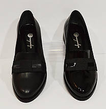 Женские черные лаковые туфли Magnolya 304, фото 3