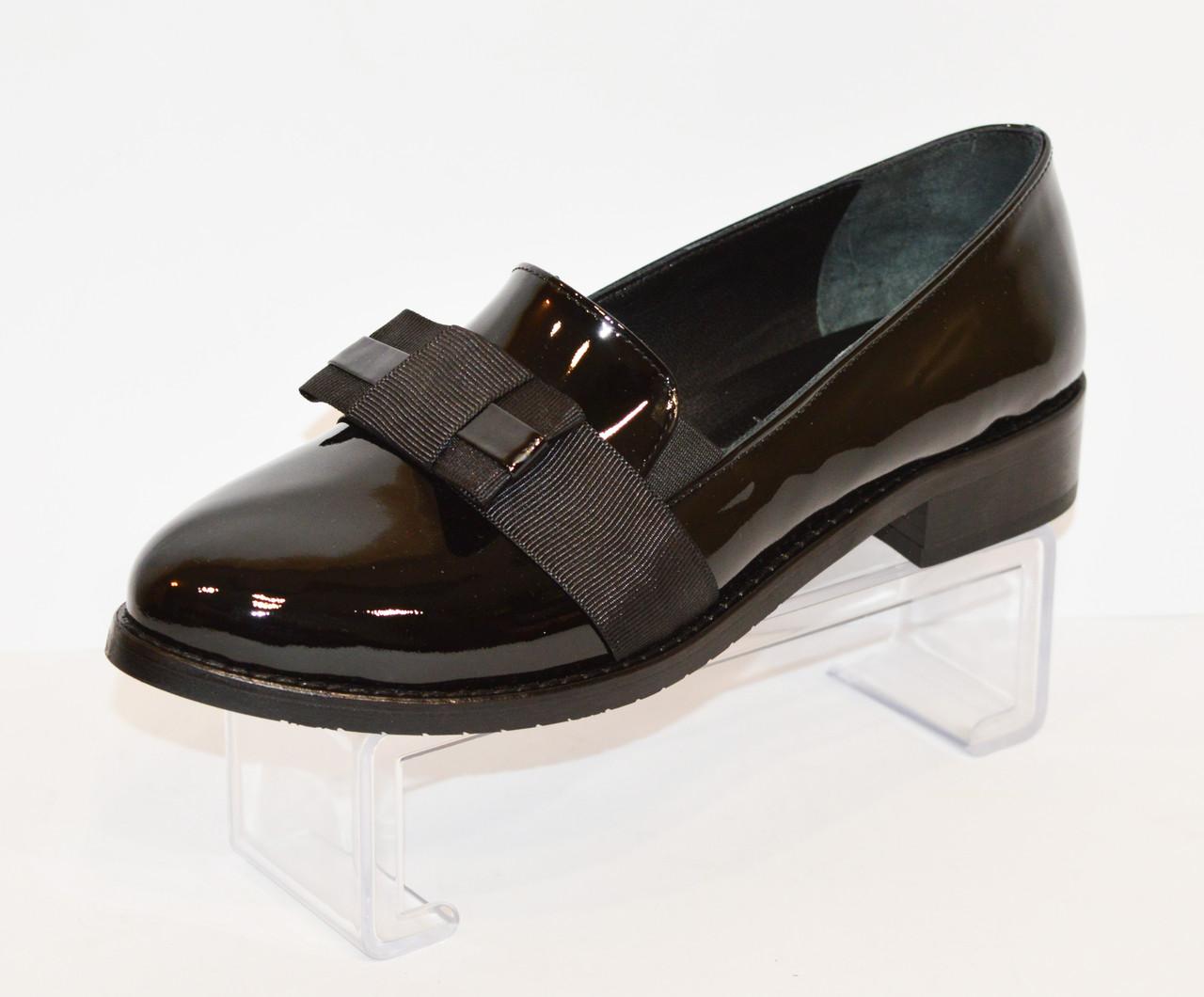 Женские черные лаковые туфли Magnolya 304