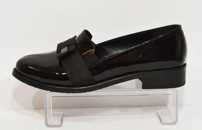 Женские черные лаковые туфли Magnolya 304, фото 2