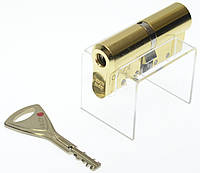 Цилиндр замка Abloy Protec 2 Hard  108мм (67Hx41) латунь  ключ-ключ